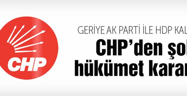 CHP'den büyük şok! Seçim hükümeti kararı