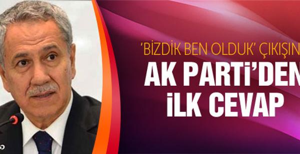Arınç'a AK Parti'den ilk tepki Beşir Atalay'dan...