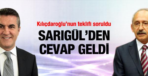 Sarıgül'den Kılıçdaroğlu'na cevap!