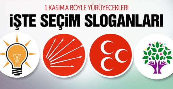 Erken seçimde 4 partinin seçim sloganları