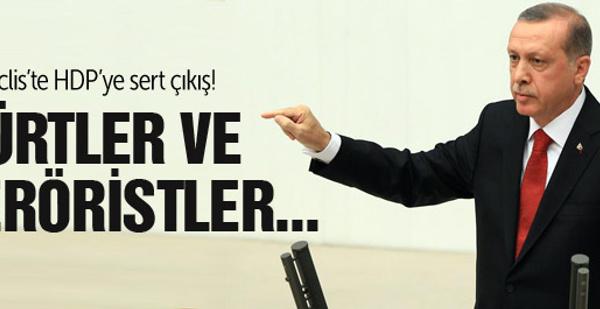 Erdoğan'dan HDP'ye Meclis'te sert çıkış!