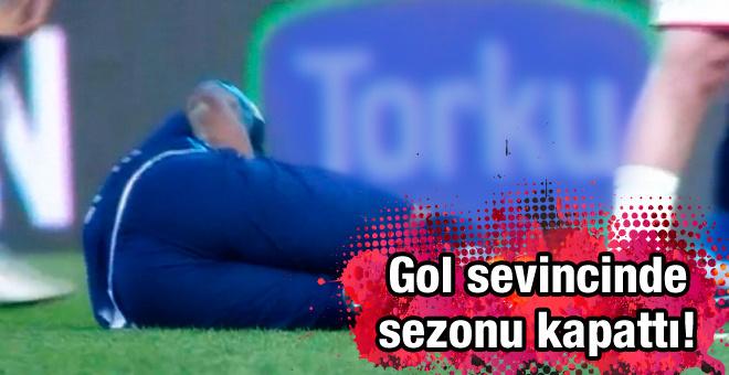 Gol sevincinde sakatlanan Kweuke sezonu kapattı