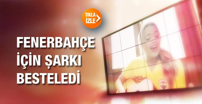 Aly Rae Eckmann Fenerbahçe için Türkçe şarkı söyledi