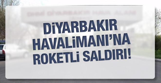 Diyarbakır Havalimanı'na roketli saldırı!