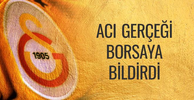 Galatasaray zarar ettiğini borsaya bildirdi