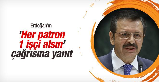 Erdoğan'dan 'her patron bir işçi alsın' çağrısına yanıt