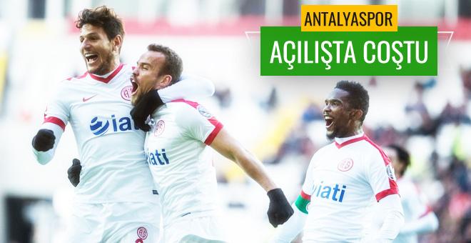 Antalyaspor coştu! Gaziantepspor'dan kötü açılış