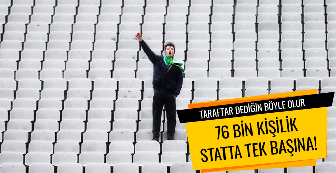 Bursaspor'u 76 bin kişilik statta tek başına destekledi