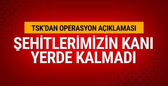 TSK açıkladı: 8 terörist öldürüldü!