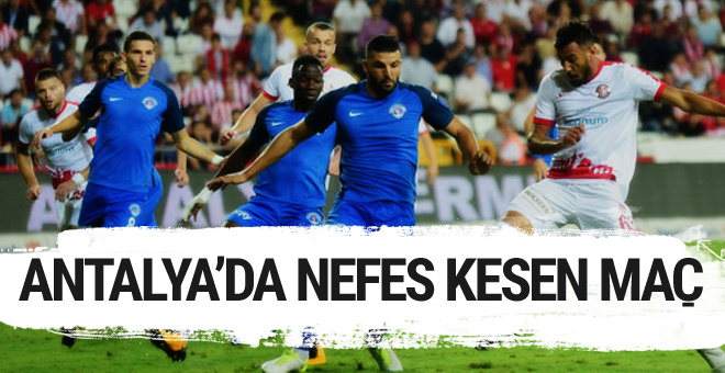Antalyaspor Kaşımpaşa maçı özeti ve golleri