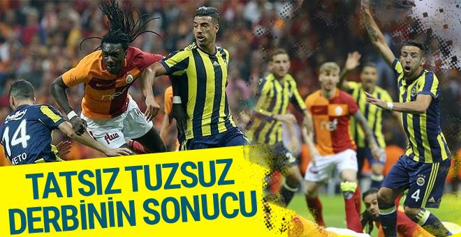 Galatasaray Fenerbahçe derbi maçı sonucu ve geniş özeti