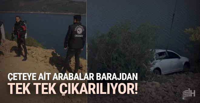 Çeteye ait arabalar Alibeyköy Barajı'ndan tek tek çıkarılıyor!