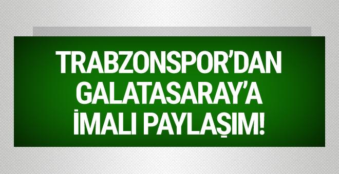 Trabzonspor'dan Galatasaray'a imalı paylaşım!