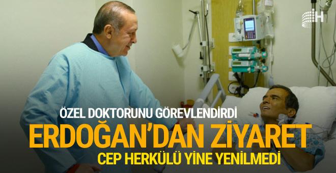 Erdoğan Naim Süleymanoğlu'nu ziyaret etti