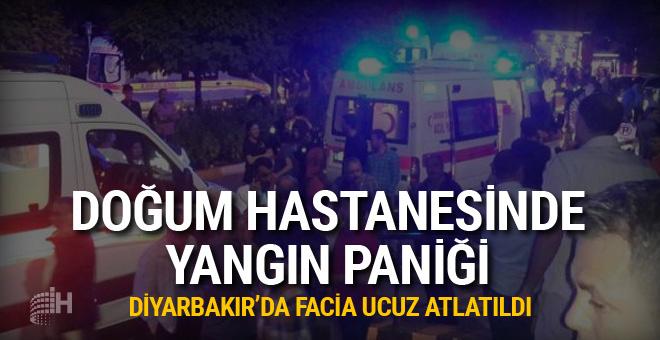 Diyarbakır'da doğum hastanesinde yangın