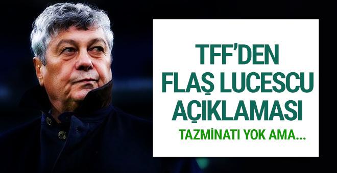 TFF'den Lucescu açıklaması!