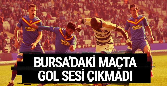Bursaspor Göztepe maçının sonucu ve özeti