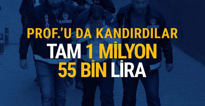 Profesör 1 milyon lirasını kaptırdı!