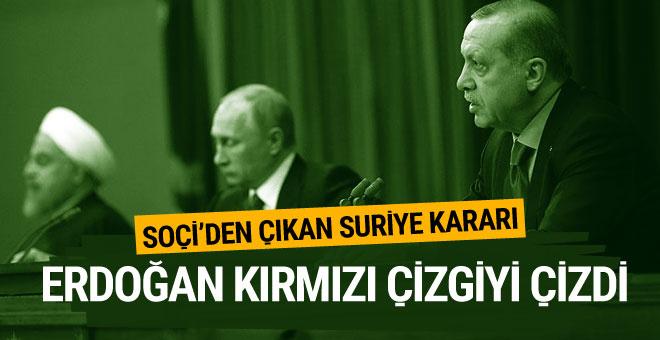 Soçi zirvesine Erdoğan'ın sözleri damga vurdu