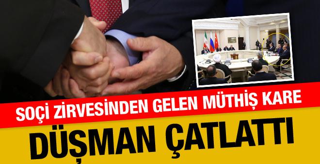 Soçi'den dünyayı çatlatan kare! Erdoğan Putin Ruhani...