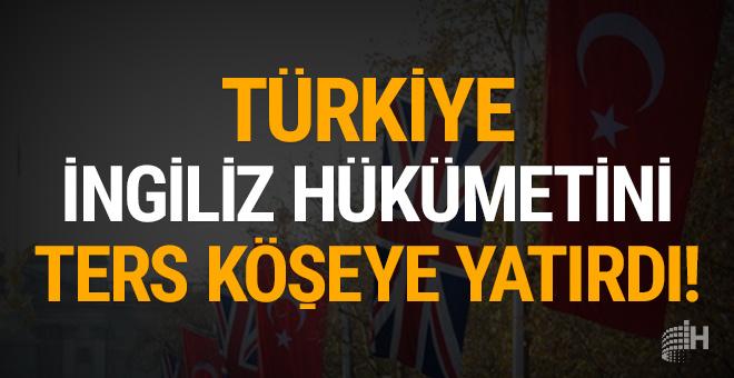 Türkiye, İngiliz hükümetini ters köşeye yatırdı!