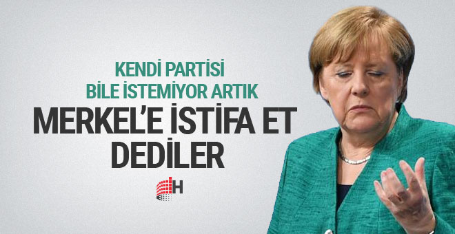 Almanya Başbakanı Merkel'e istifa çağrısı