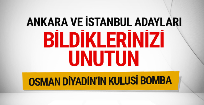 AK Parti Ankara-İstanbul adayları için bomba iddia