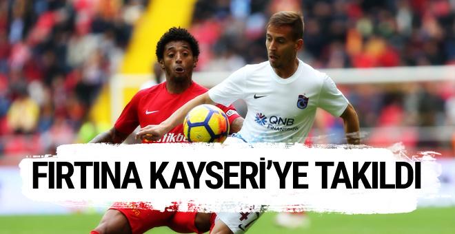Kayserispor-Trabzonspor maçı geniş özeti ve sonucu
