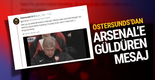 Östersunds'tan Arsenal'e güldüren mesaj