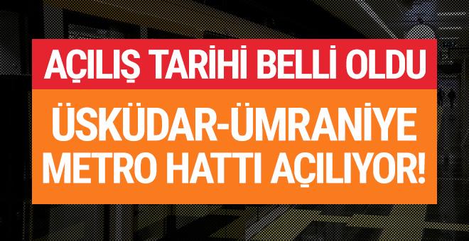 Üsküdar-Ümraniye metro hattının açılış tarihi belli oldu!