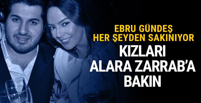 Reza Zarrab'ın kızı Alara Zarrab'a bakın Ebru Gündeş saklıyor