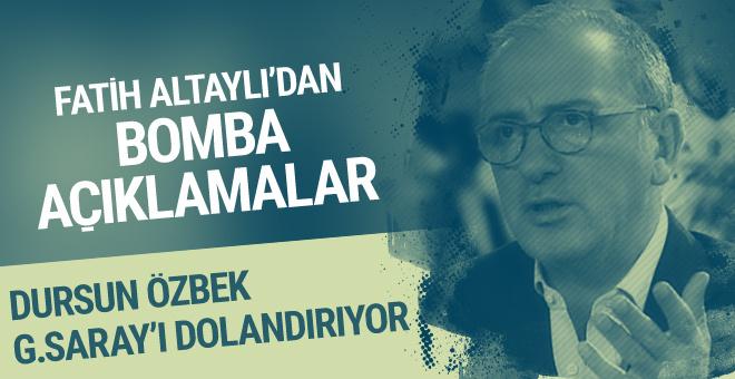 Fatih Altaylı: Dursun Özbek Galatasaray'ı dolandırıyor