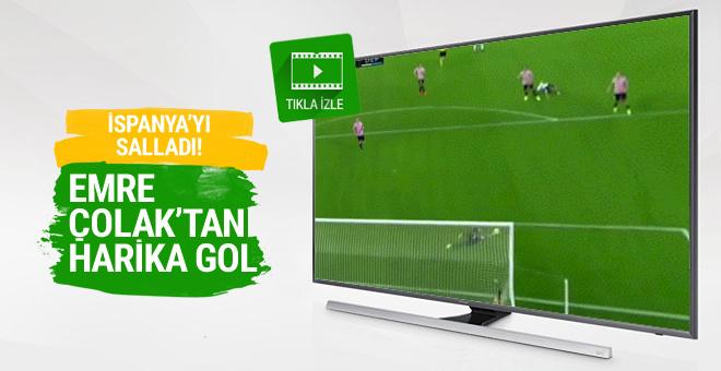 Emre Çolak'tan İspanya'yı sallayan gol!