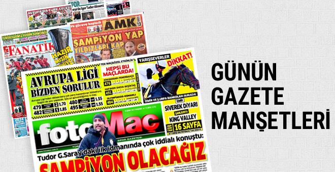 Günün spor gazete manşetleri! 16 Şubat 2017