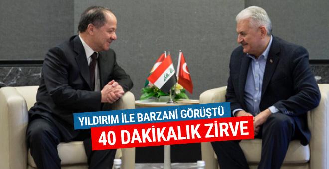 Yıldırım- Barzani arasında 40 dakikalık görüşme