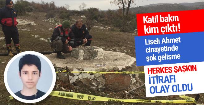 Liseli Ahmet cinayetinde şok gelişme