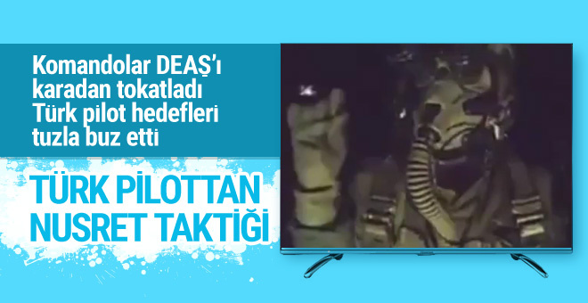 DEAŞ'ı bombalayan Türk pilottan Nusret taklidi