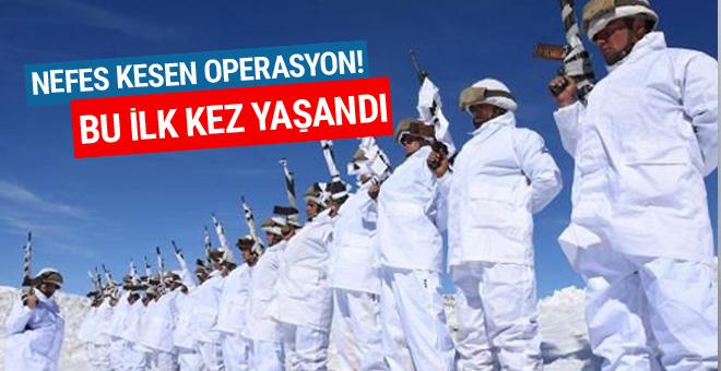Komandolar teröristlerin tepesine böyle bindi!