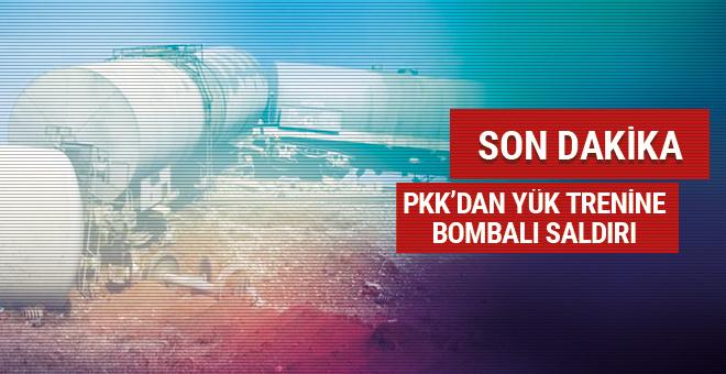 Diyarbakır'da yük trenine PKK'dan bombalı saldırı