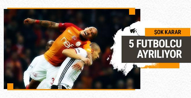 Galatasaray'dan şok karar! 5 isim...