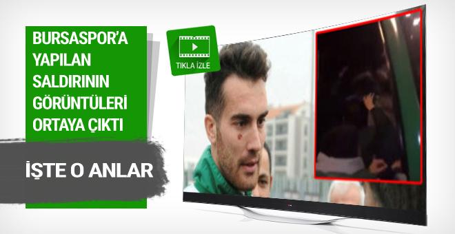 İşte Bursasporlu futbolculara yapılan saldırının görüntüleri