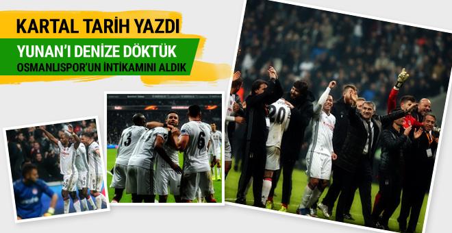 Beşiktaş-Olympiakos maçı geniş özeti