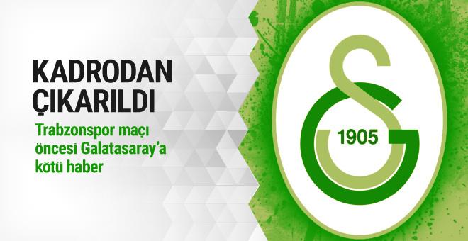 Derbi öncesi Galatasaray'a şok haber