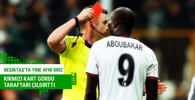 Beşiktaş'ta Aboubakar krizi! Yine kırmızı kart gördü