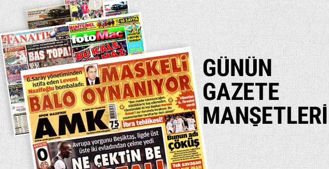 Günün spor gazete manşetleri