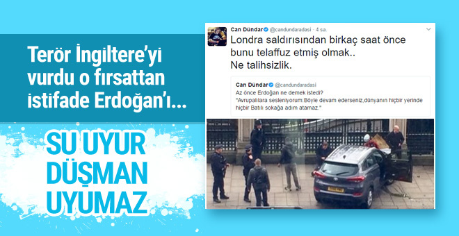 Can Dündar Londra saldırısı için Türkiye'yi suçladı