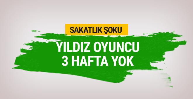 Fenerbahçe'de sakatlık şoku! 3 hafta yok...