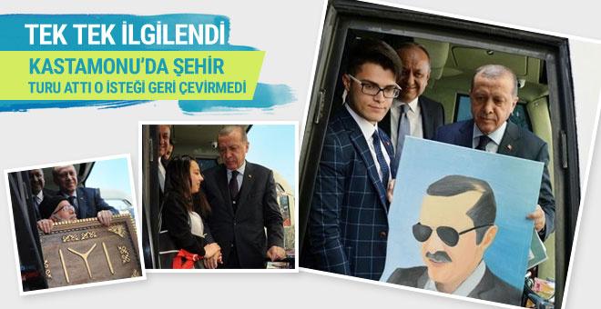 Öğrenciden Erdoğan'a hediye