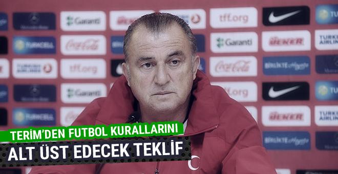 Fatih Terim'den futbol kurallarını alt üst edecek teklif