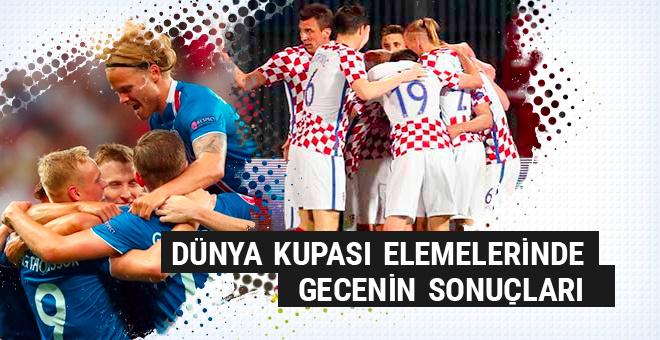 Hırvatistan ve İzlanda kazandı